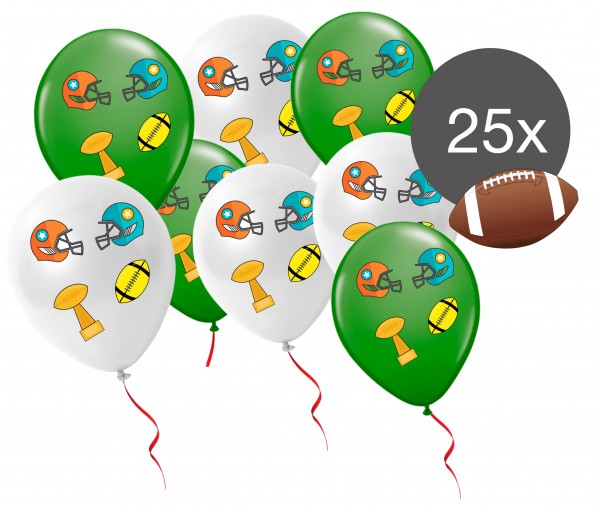 25x Luftballons Ballons Super Bowl Deko Dekoration 2019 Party Set American Football